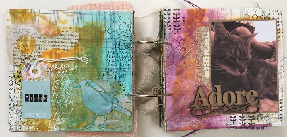 Kim Schofield, TCW, Canvas Corp, Mini Album, Page 4