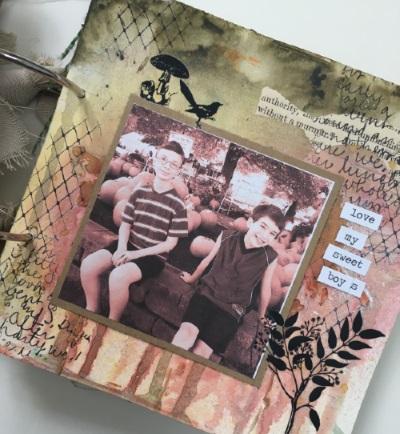 Kim Schofield, TCW, Canvas Corp, Mini Album, Page 5A