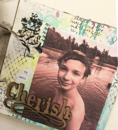 Kim Schofield, TCW, Canvas Corp, Mini Album, Page 8A