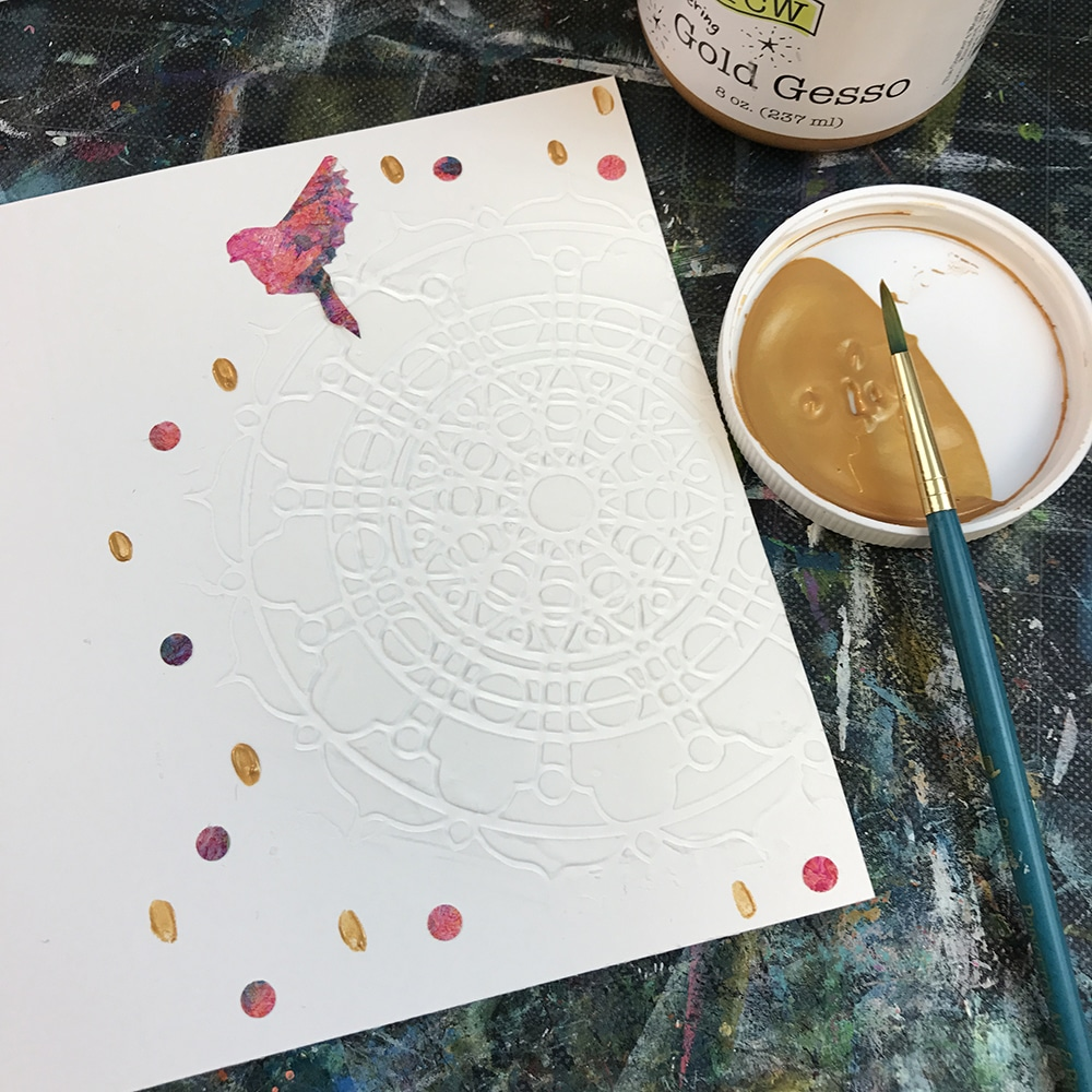 Gold Gesso Accents