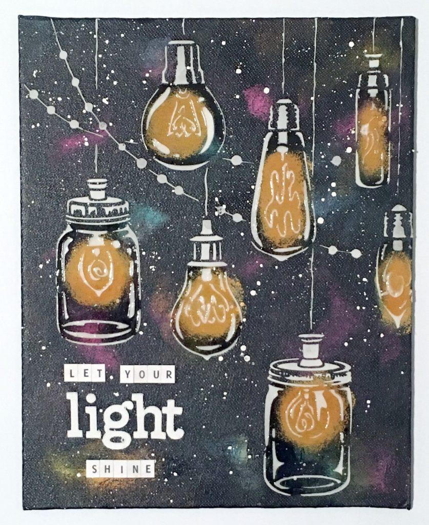 Kim Schofield, Party Lights, Light Shine Canvas, TCW676
