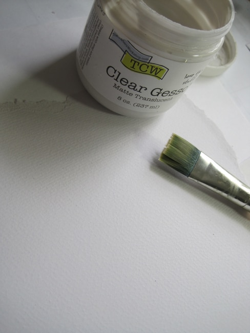 Watercolor paper with TCW clear gesso LEFKO