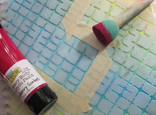 TCW662 and Raspberry Sorbet acrylic paint LEFKO