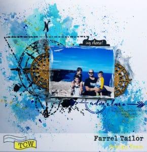 farrel tailor mixed media layout