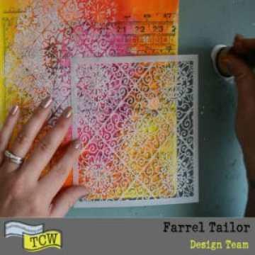 Spun sugar and lacy tiles stencil