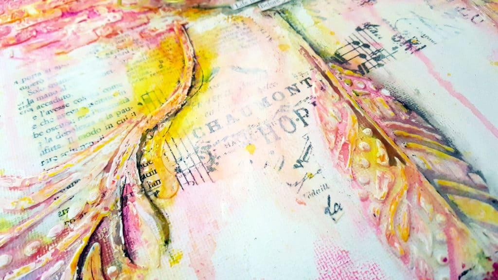 mixed media canvas zoey scrapsaurus tcwstencil