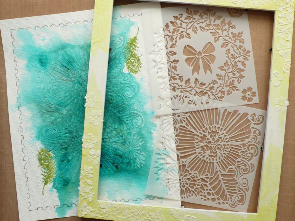 How to create an extra large post stamp using stencils