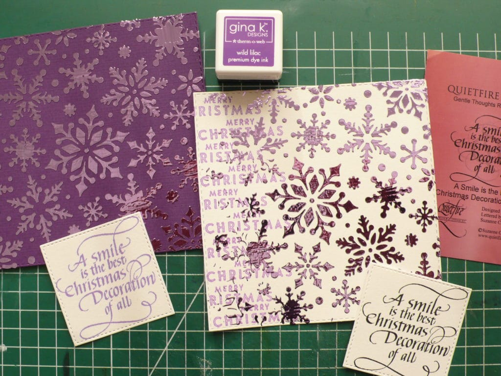 How to create beautiful shiny Christmas cards with Deco Foil