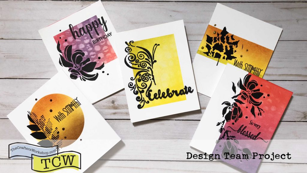 Silhouette Stenciling is an easy technique to use with all of The Crafter's Workshop stencils and is completely customizable!