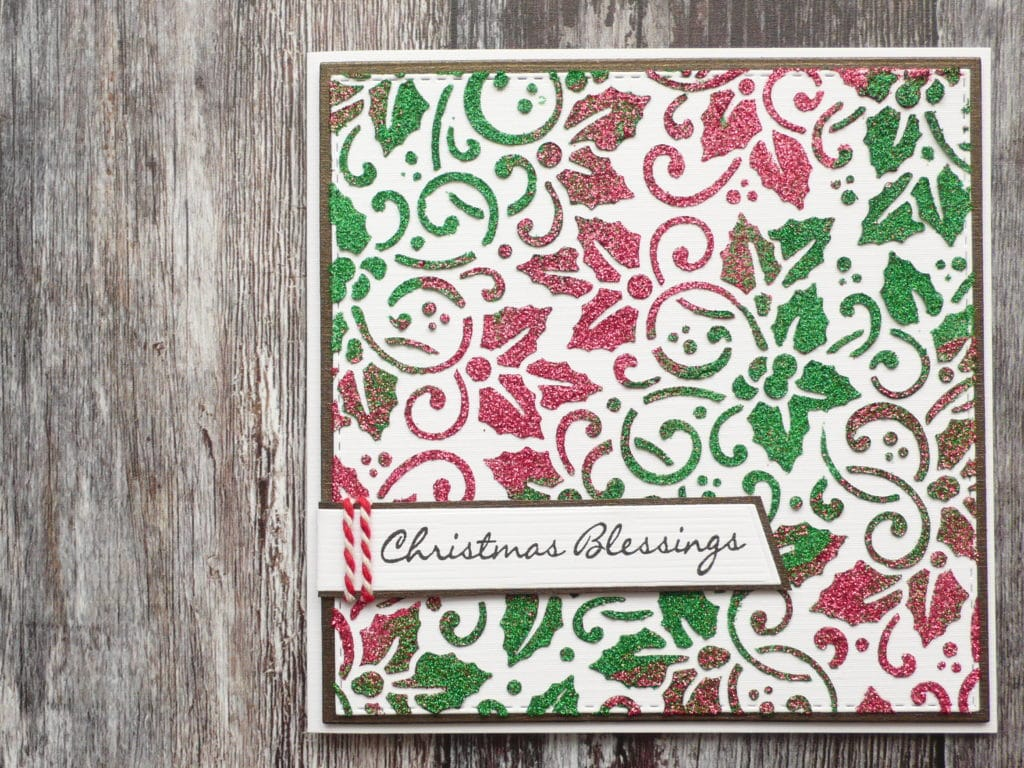 How to create fun and easy glittery Christmas cards using stencils