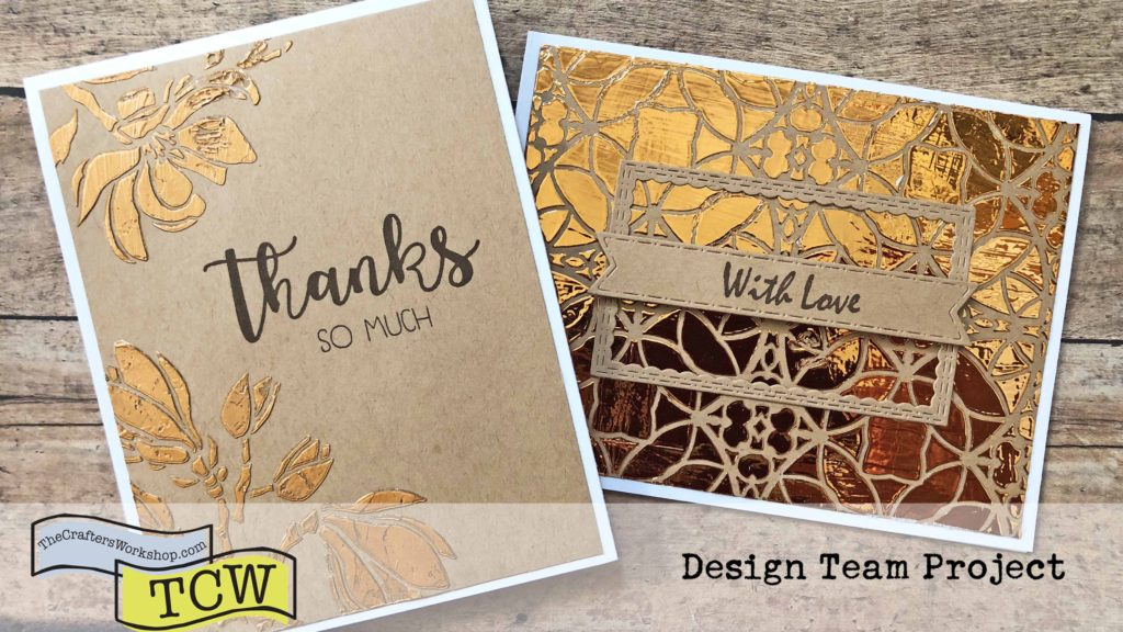 Stencils & Foiling 2 Ways - Both Cards