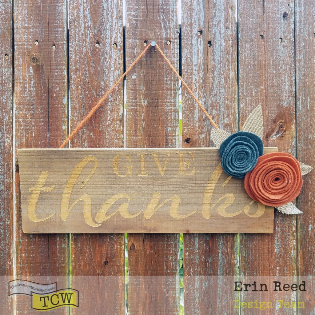 rustic autumn wood sign
