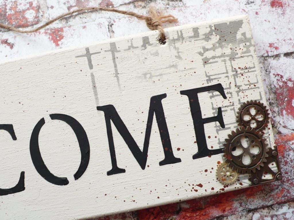 How to create an industrial style welcome sign step by step