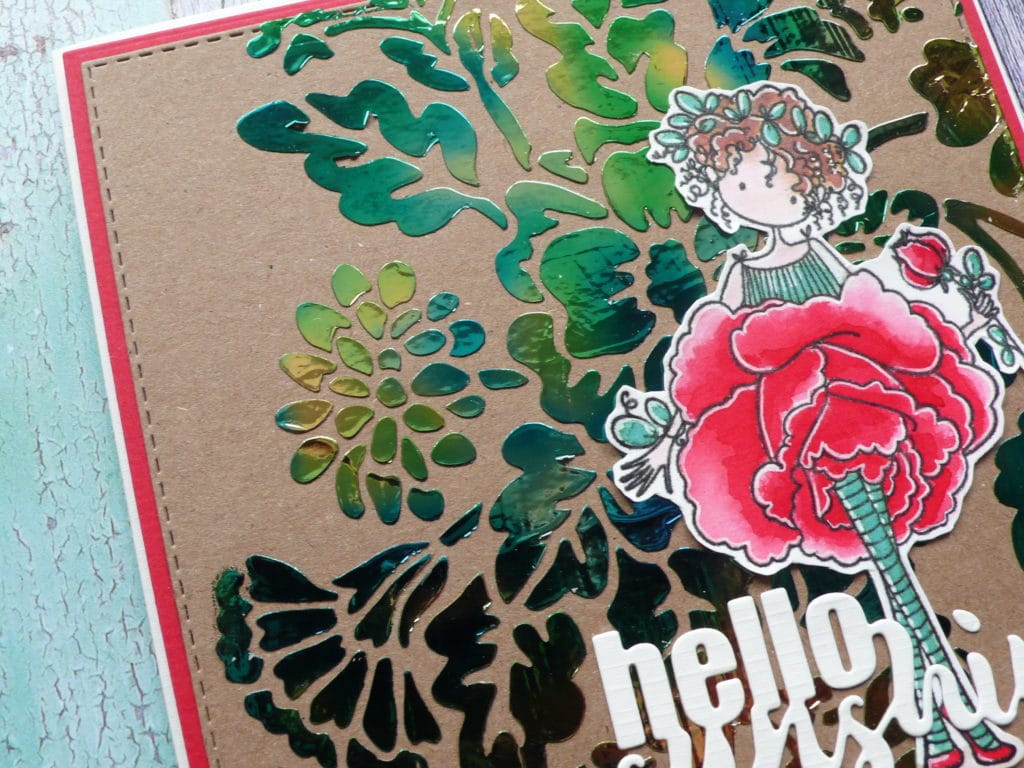 How to create easy stunning hot foiled card designs