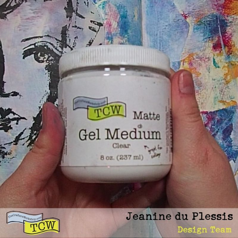 Picture of TCW Matte Gel Medium.  #TCW #TCWStencils #Artjournal #mixedmedia #mattegelmedium