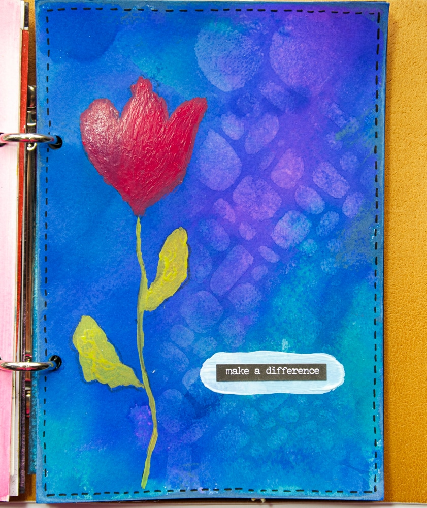The Crafter's Workshop Blog – Make a Difference Stenciled Journal Page – created by Robyn Wood