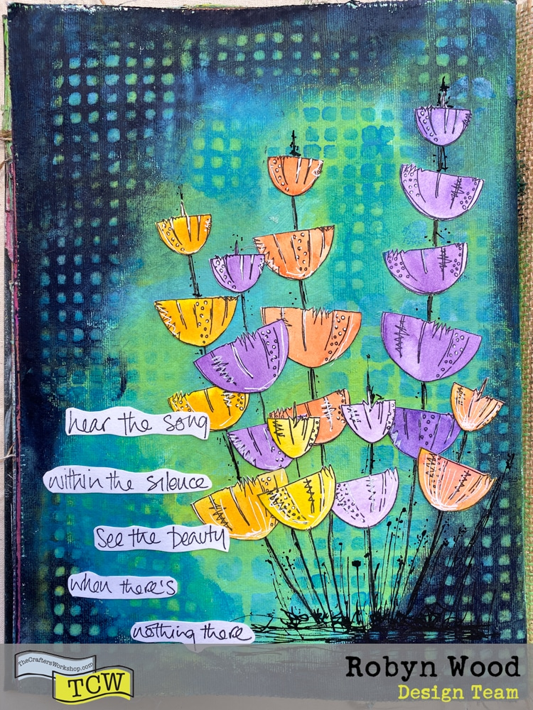 The Crafter's Workshop blog post - See the Beauty in Stencil Layering! by Robyn Wood