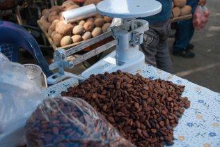 Toasted cacao nibs, Zaachila market