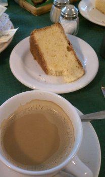 lime pound cake and cafe con leche (a la española), Polanco