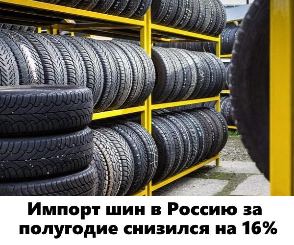 Импорт шин в Россию за полугодие снизился на 16%