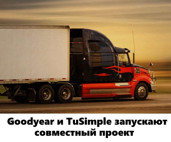 Goodyear и TuSimple запускают совместный проект