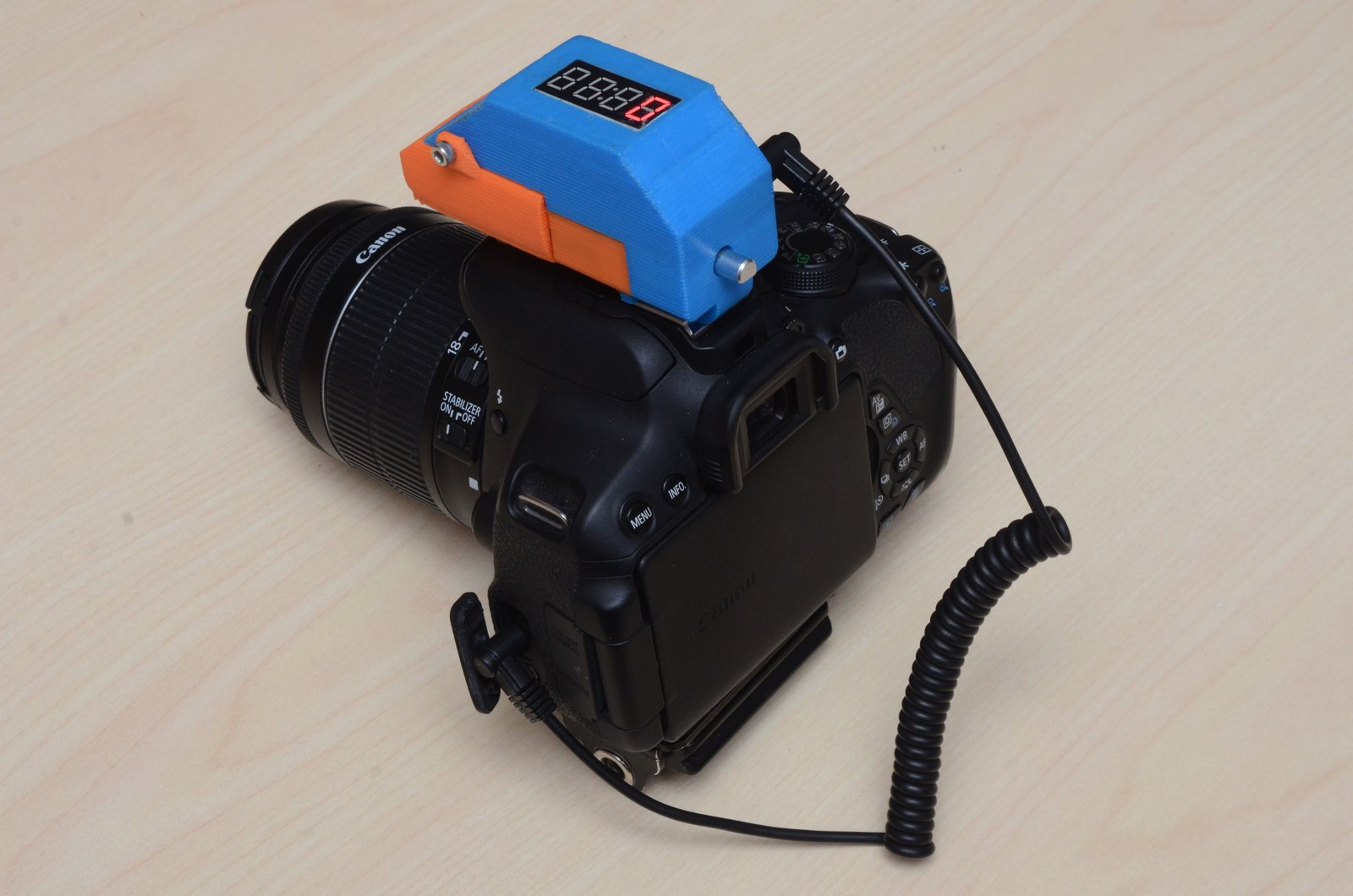 Camera-Mounted Intervalometer