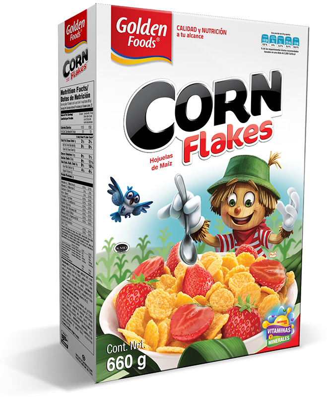 Diseño Golden Foods Corn Flakes