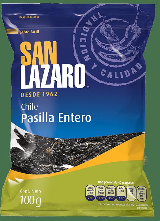 Diseño de Empaque San Lazaro Chile Pasilla