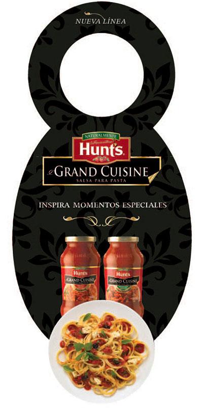 Wine Bottle Neck Hunt's Grand Cuisine TD2 Branding