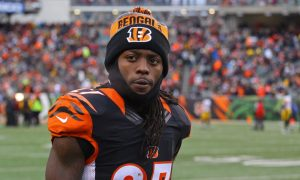 Dre Kirkpatrick looks on from the sideline in a 2016 game for Bengals versus Steelers