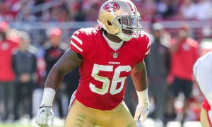 Reuben Foster playing for 49ers