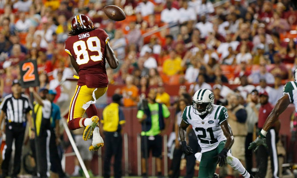 Former Tide WR Cam Sims turning heads at Redskins' minicamp