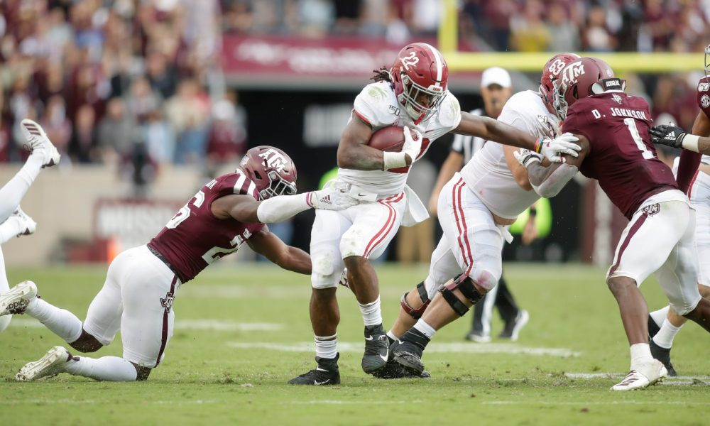 Alabama's offensive line finding itself in the rushing attack