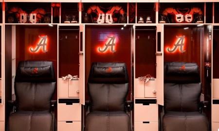 Alabama locker room chairs