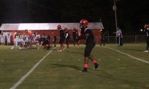 Alabama 2021 4-Star DB commit Kadarius Calloway takes instructions from coach before the snap