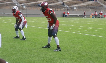 Alabama 4-Star LB signee Ian Jackson warms up for Alabama-Mississippi All-Star Game