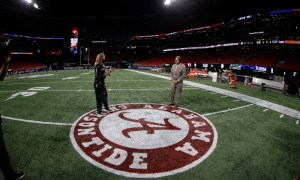 Nick Saban in a pregame interview before SEC Championship
