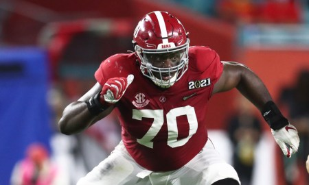 Alex Leatherwood come out his stance versus Ohio State at CFP title game