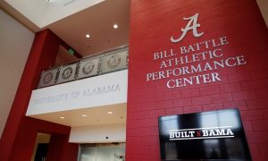 Alabama unveils new logo of Bill Battle facility