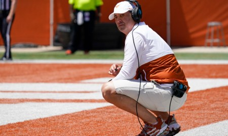 Steve Sarkisian before Texas' spring game for this year