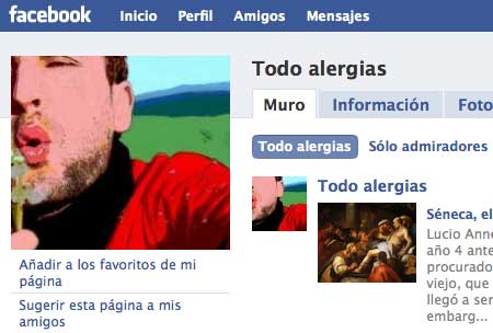 Todo alergias en Facebook