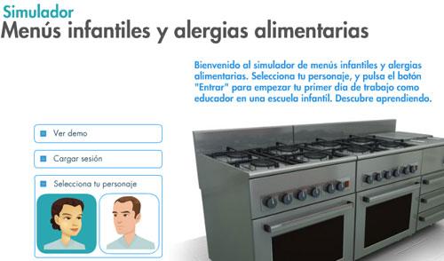 Simulador de alergias alimentarias