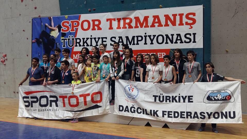 Spor Tırmanış Minikler, Küçükler ve Gençler Lider Tırmanış Şampiyonası 2. Ayak tamamlandı.