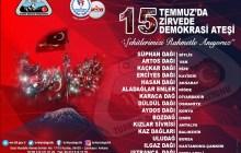 15 Temmuzda 15 Zirvede 15 Demokrasi Ateşi