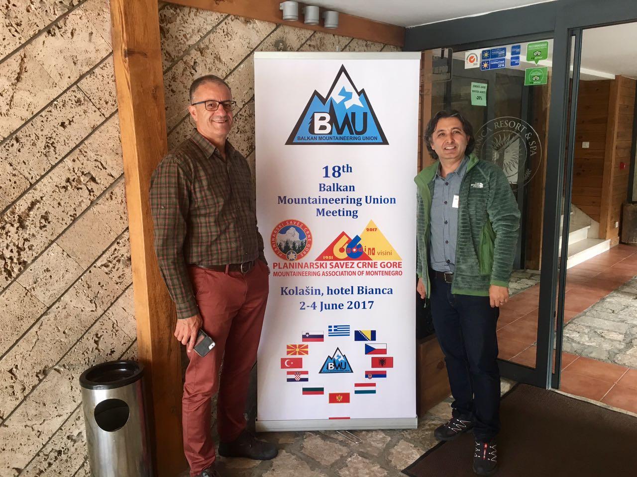 Balkan Dağcılar Birliği (BMU) 18. Toplantısı Karadağ'da yapıldı.