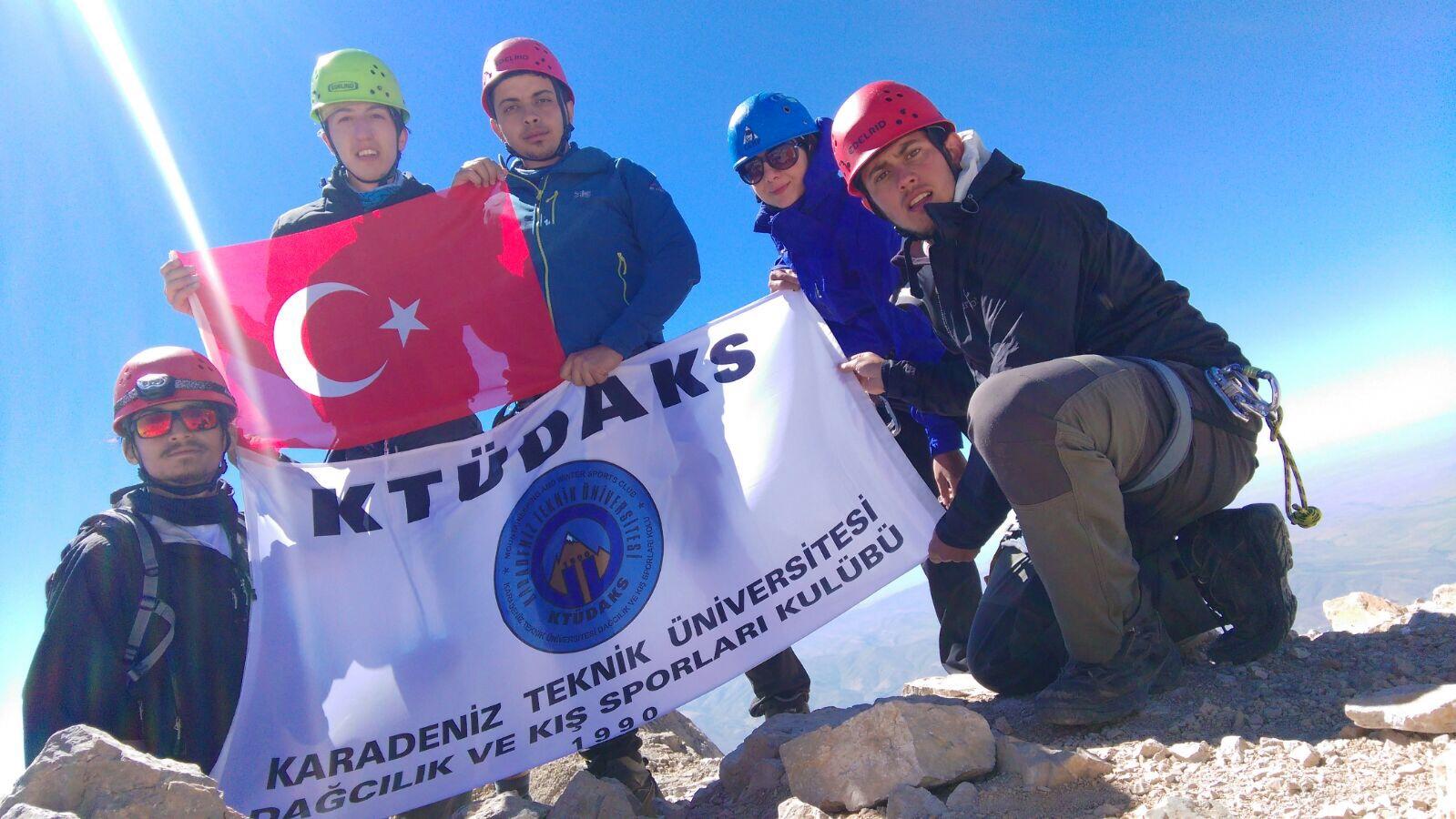 KTÜDAKS Kaya Eğitimleri ve Zirve Tırmanışları Faaliyetleri