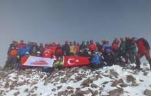 29 Ekim Erciyes Dağı Cumhuriyet Tırmanışı tamamlandı.