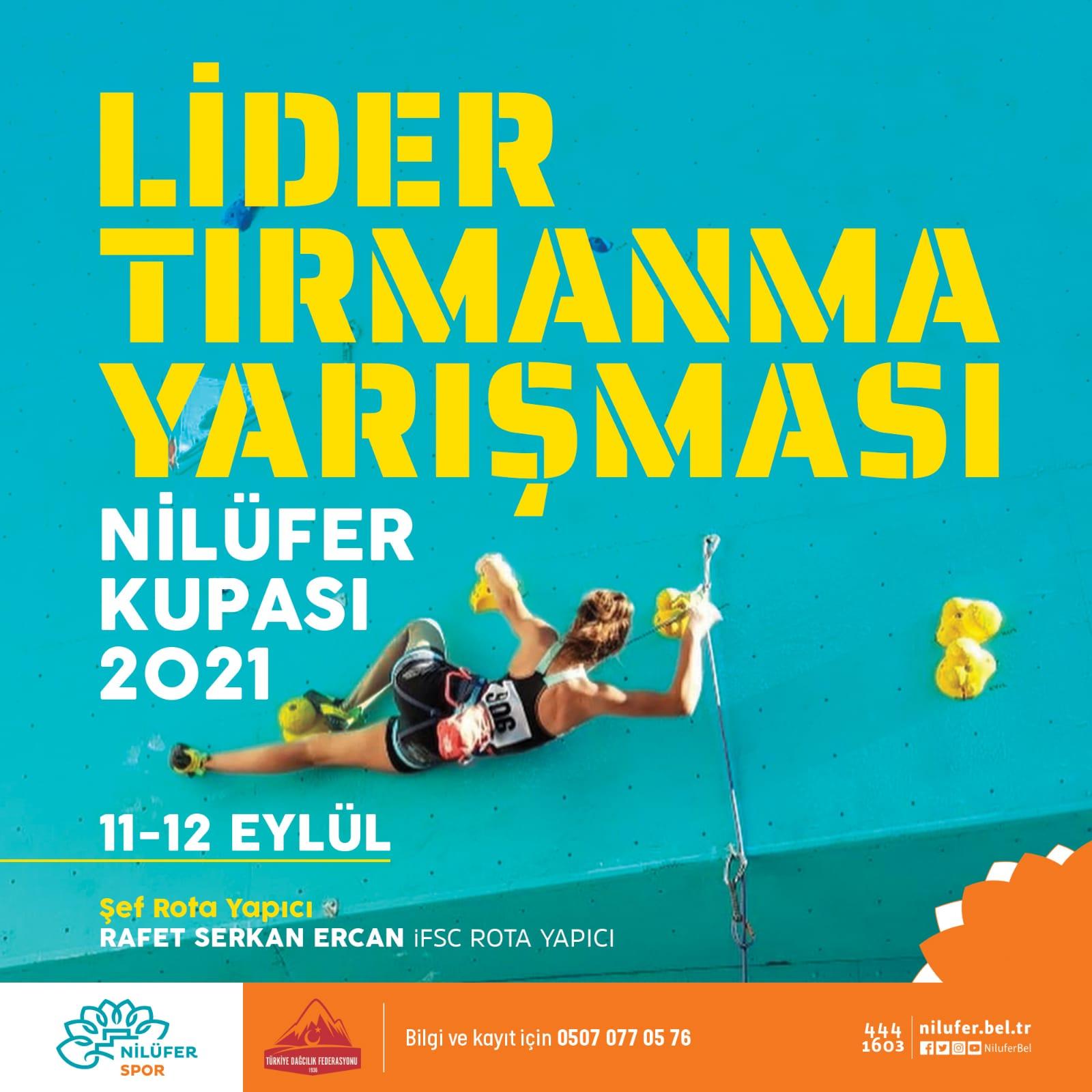 """Bursa """"NİLÜFER CUP 2021"""" Spor Tırmanış Yarışması"""