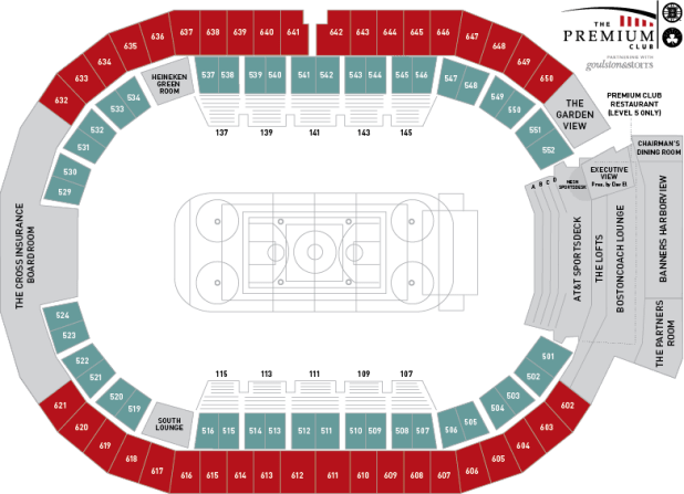 Celtics seating chart suites for Td garden celtics seating chart