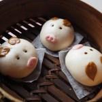 三匹の子豚のバーベキューポーク饅頭
